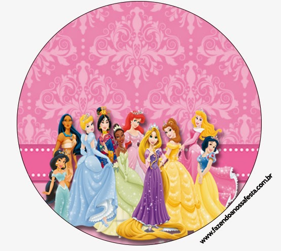 Toppers o etiquetas de Princesas Disney para candy bar.