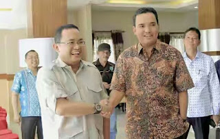 Plt Bupati Muba Sambut Kunker Anggota DPR RI Dibumi Serasan Sekate