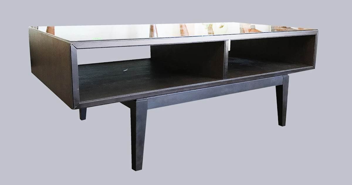 Uhuru Furniture Collectibles Glass Top Coffee Table With Lower Shelf 95 Sold