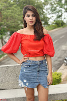 Rhea Chakraborty in Red Crop Top and Denim Shorts Spicy Pics ~  Exclusive 313.JPG