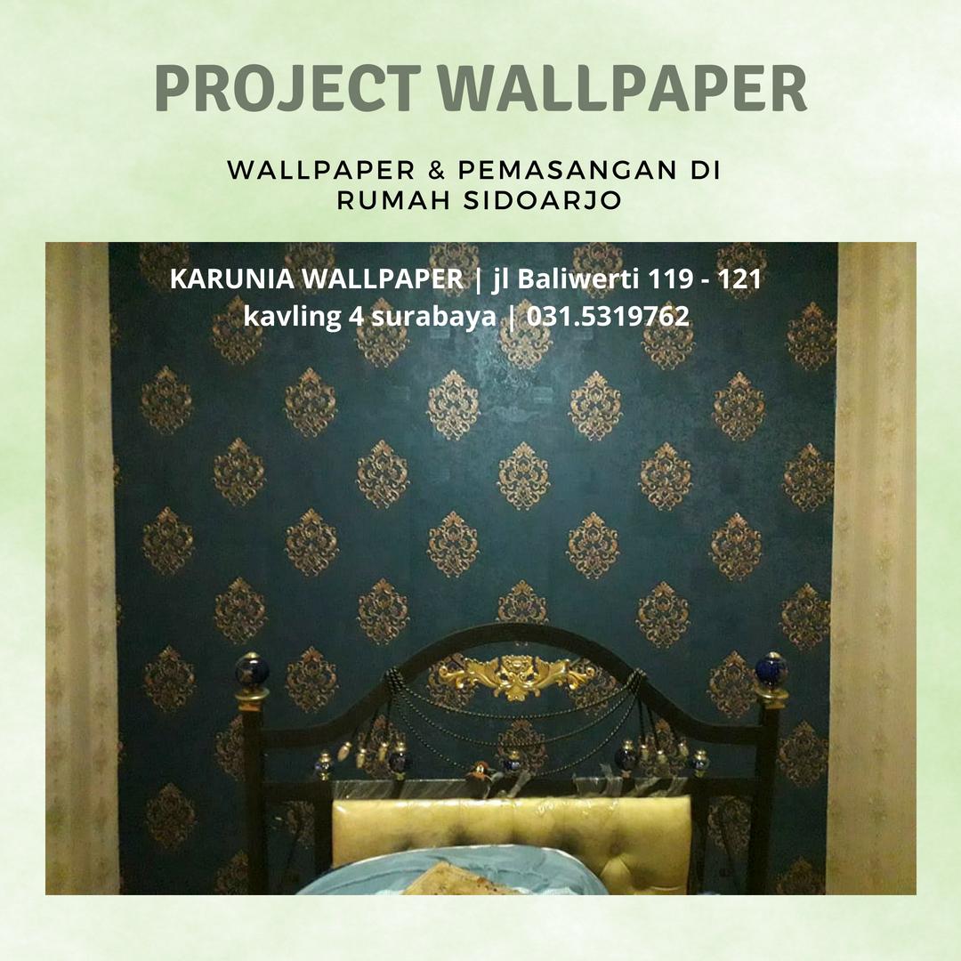 hiasan dinding kamar dengan wallpaper pemasangan sidoarjo Karuniawallpaper