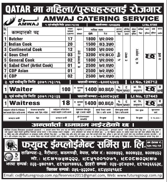Jobs in Qatar for Nepali, Salary Rs 92,480
