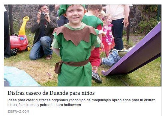 disfraz de duene para niños