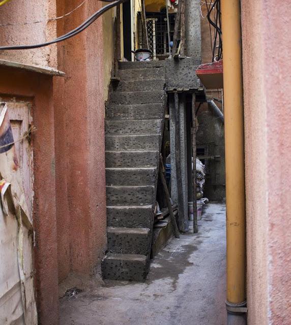 our world tuesday, worli, koliwada, ingenous staircase, mumbai, india, street, bylane, space utilisation,