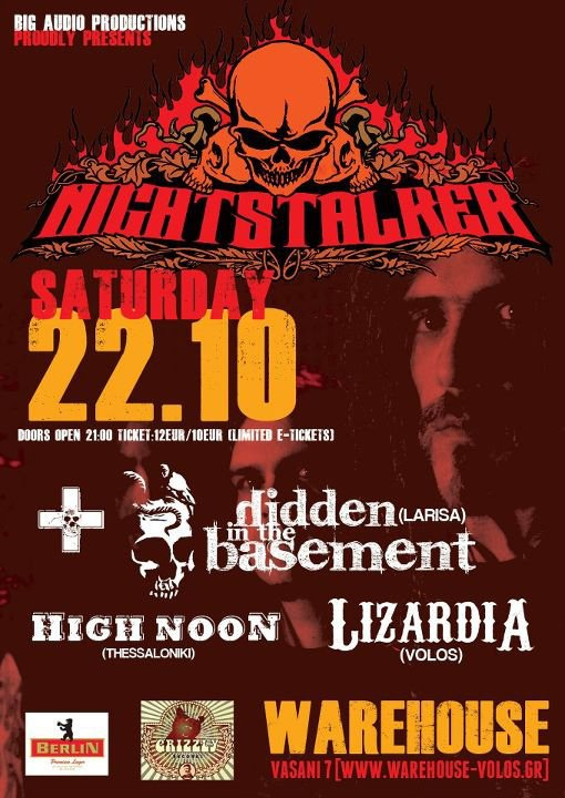 [Live Report] Nightstalker, Hidden In The Basement, Lizardia, High Noon @ Volos, 22/10/2011
