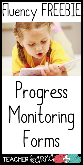 Progress Monitoring FREEBIE for Fluency TeacherKARMA.com