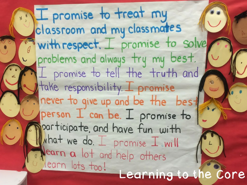 First Week In First Grade Expectations And Anchor Charts