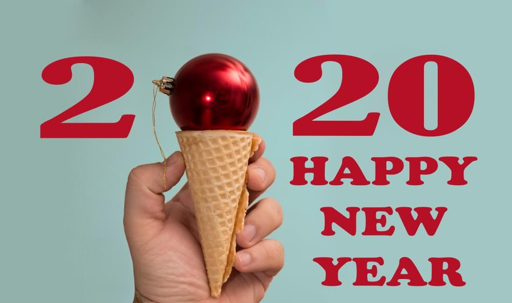 Happy New Year Ice Cream Wallpaper 2020