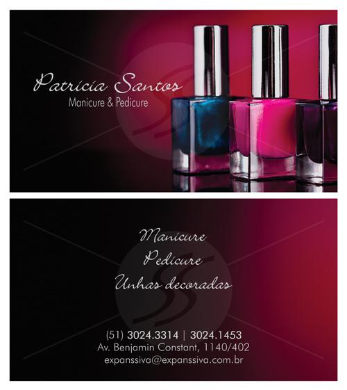 M2397 cartoes de visita manicure - Cartões de Visita para Manicure e Pedicure
