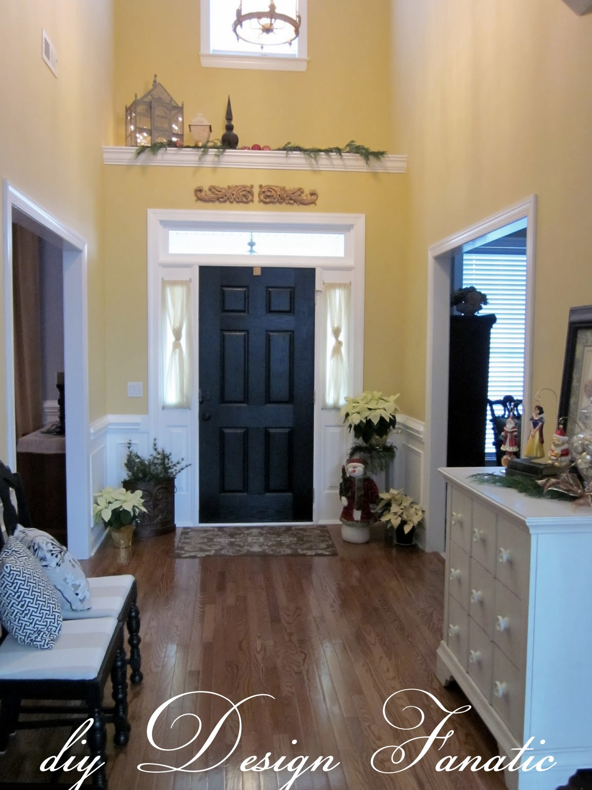 Foyer Design Ideas 4 Steps To Beautify The Foyer: The Front Door Used To Be White And I Painted It Black A