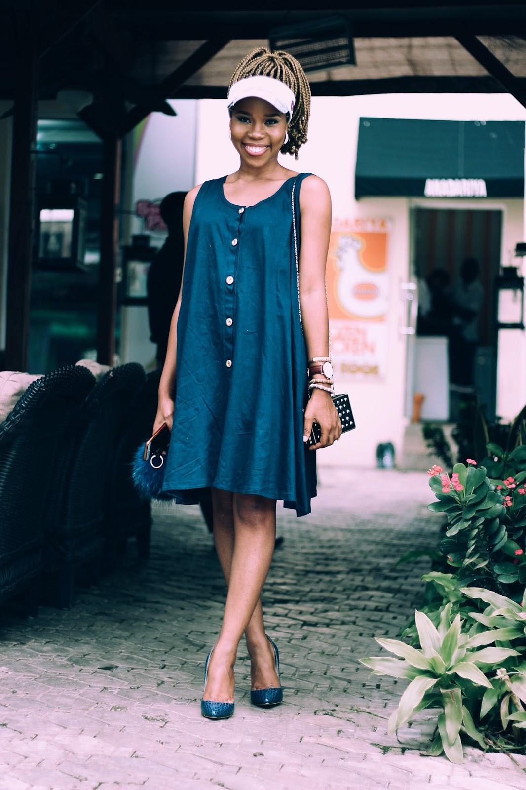 BLUE SWAY (SHIFT DRESS)