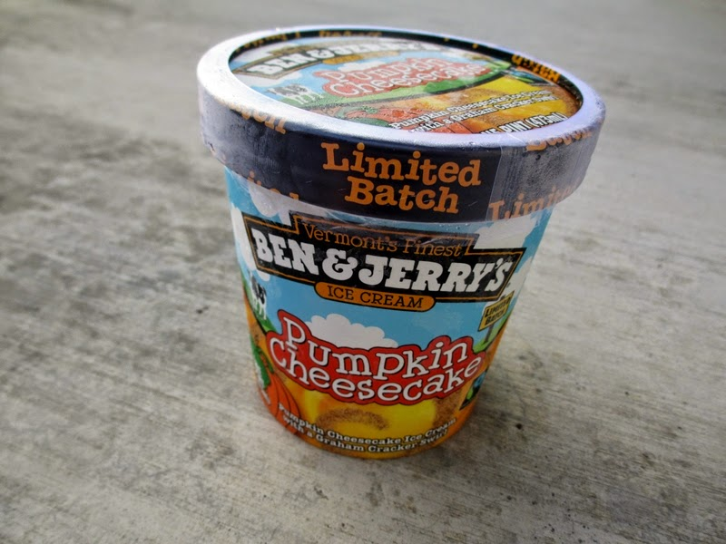 Pint of Ben & Jerry's Limited Edition Pumpkin Cheesecake Flavored Ice Cream