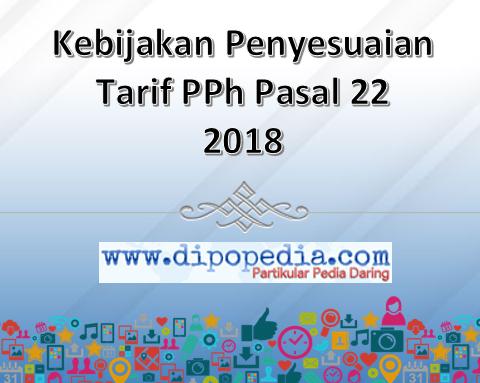 Gambar Posting Kebijakan Penyesuaian Tarif PPh Pasal 22 2018