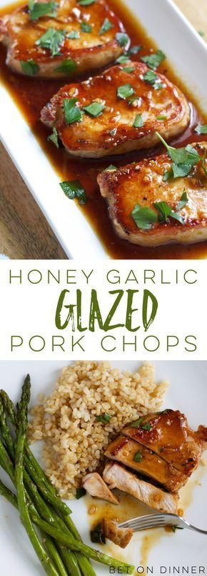Recipe – Honey Garlic Pork Chops #honey #garlic #honeygarlicporkchops #meat #easyrecipes #dinnerideas #easydinnerrecipes