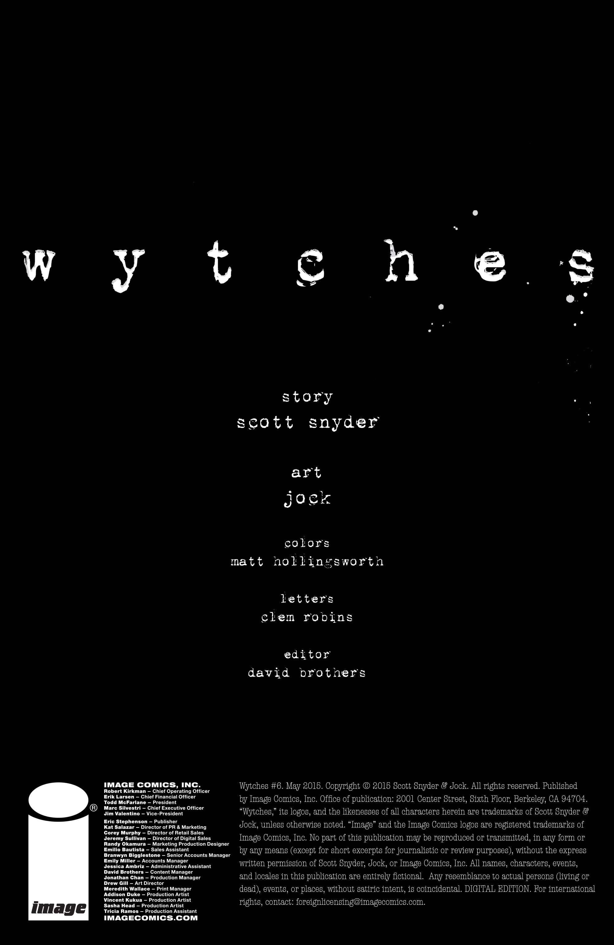 Read online Wytches comic -  Issue #6 - 2