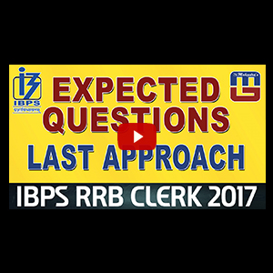 Expected Questions | Last Approach | Reasoning | IBPS RRB CLERK Special 2017