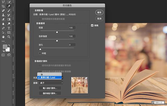 Adobe Photoshop 符合顏色 - 對應圖層