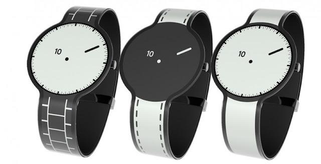 Relógios feitos em E-paper