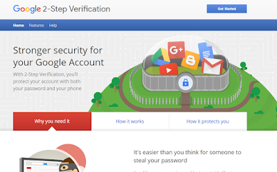 Google 2 Step Verification Home Page