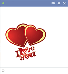 Double Love-You Hearts Sticker