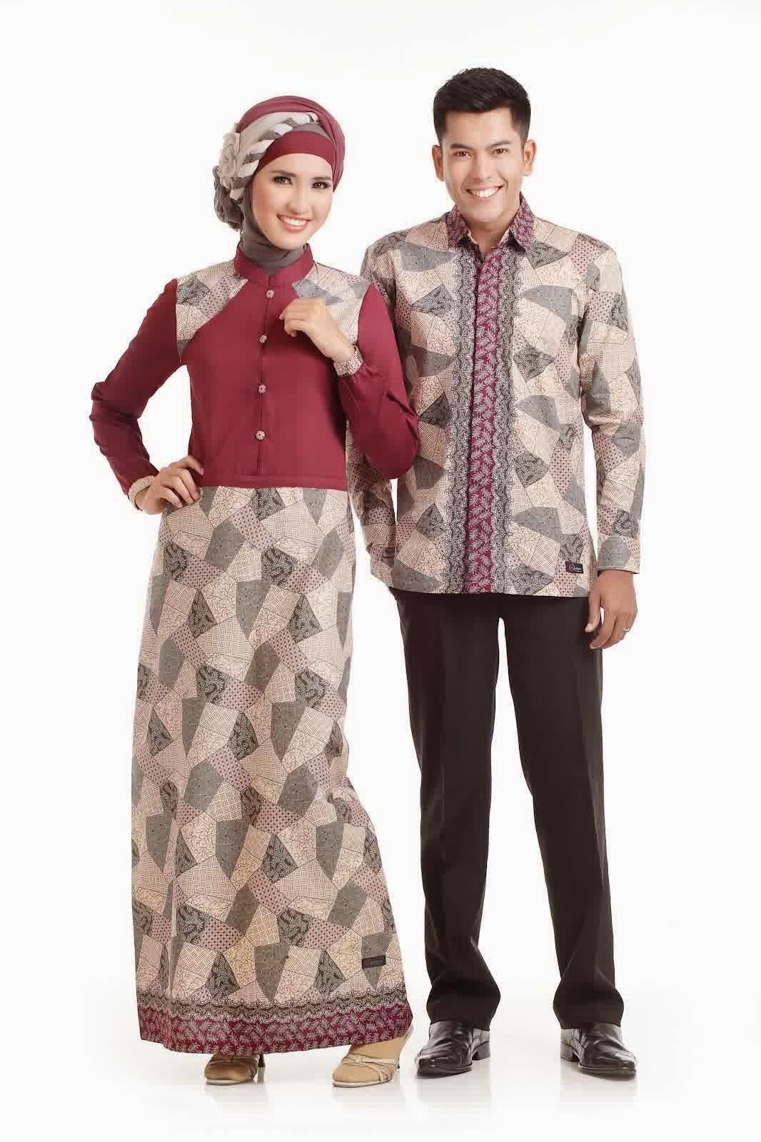 Contoh Model Baju Batik Muslim Sarimbit Terbaru