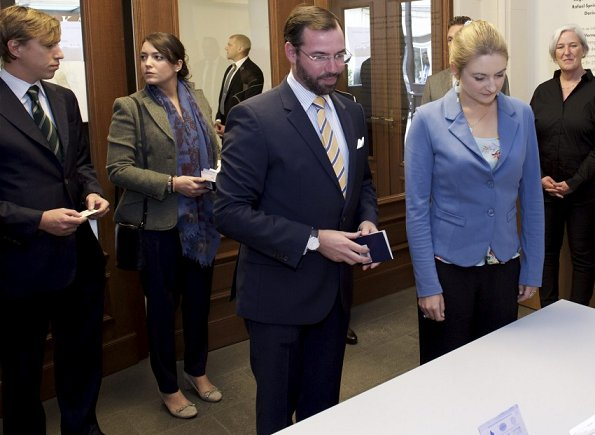 Luxembourg communal elections, 2017. Grand Duke Guillaume and Grand Duchess Stéphanie, Princess Alexandra