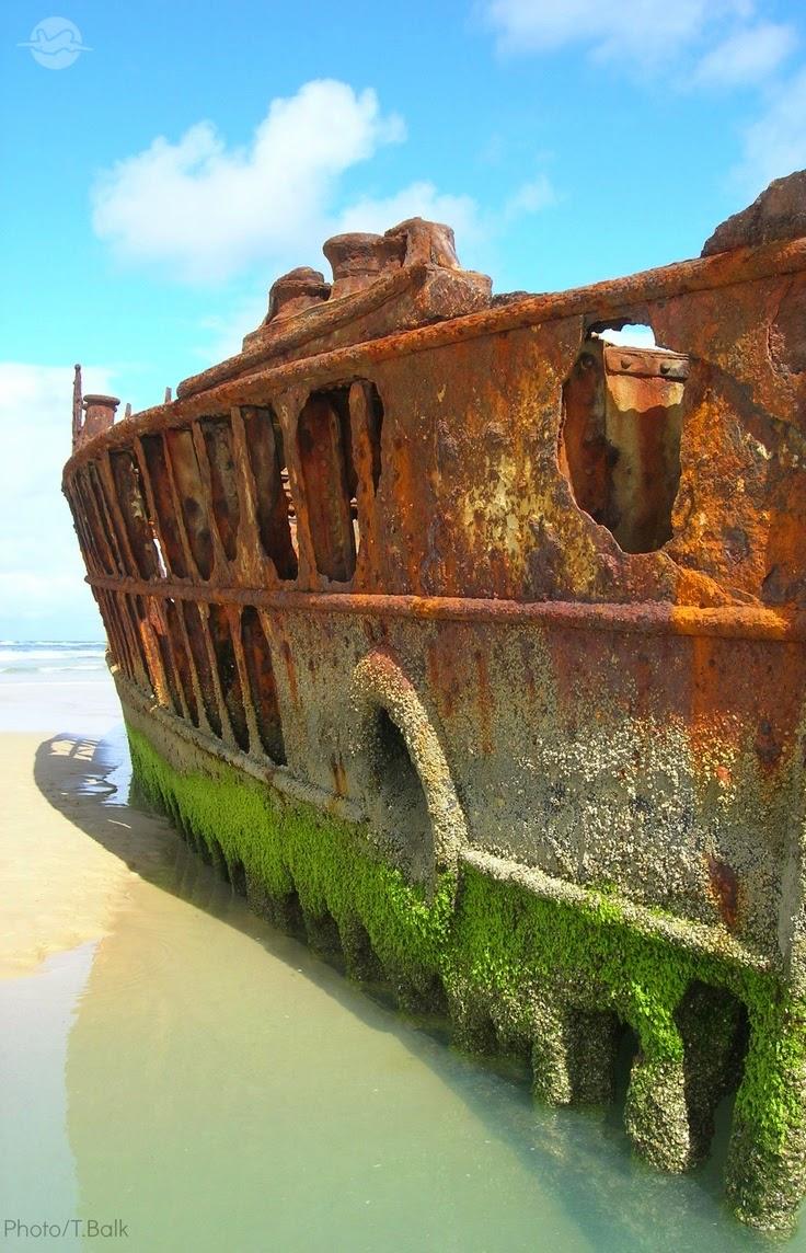 The SS Maheno ship wreck Fraser Island.