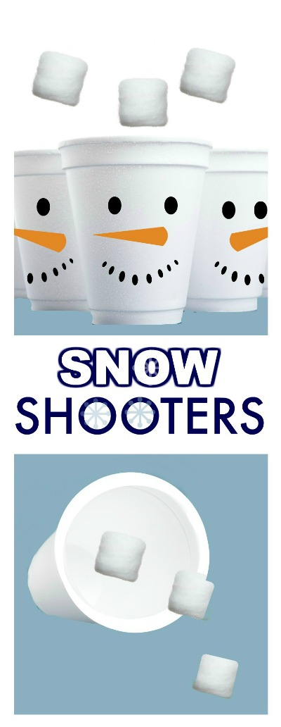 SNOW SHOOTERS; a super fun homemade toy for kids! #winteractivitiesforkids #wintercrafts