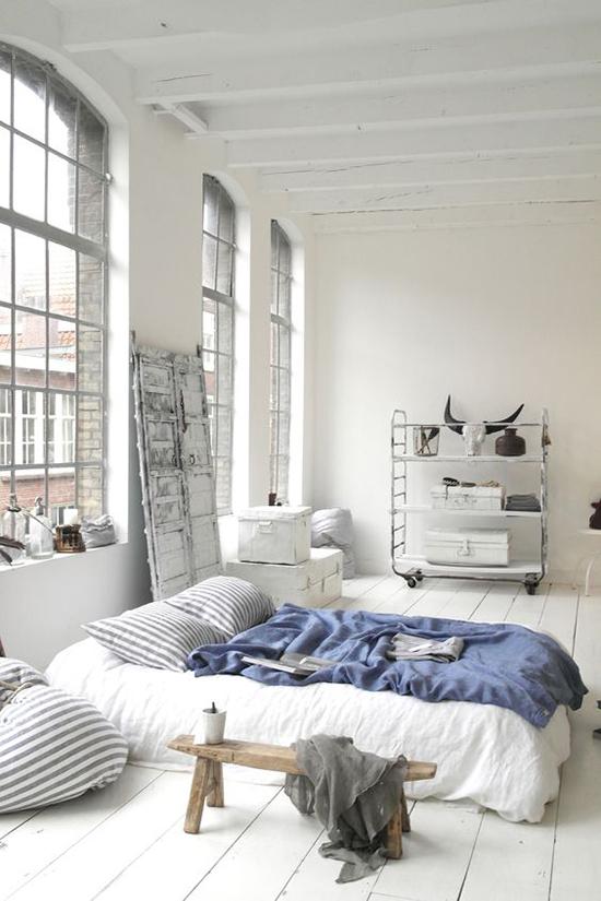 Desain kamar tidur modern bergaya scandinavian