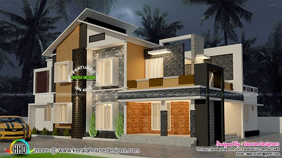 2138 sq-ft mix roof contemporary home