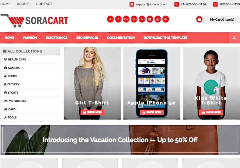 Soracart e commerce free blogger template maxwellsz