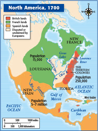Map Of America In 1700.Mr Ramirez S History Blog Map Of North America 1700