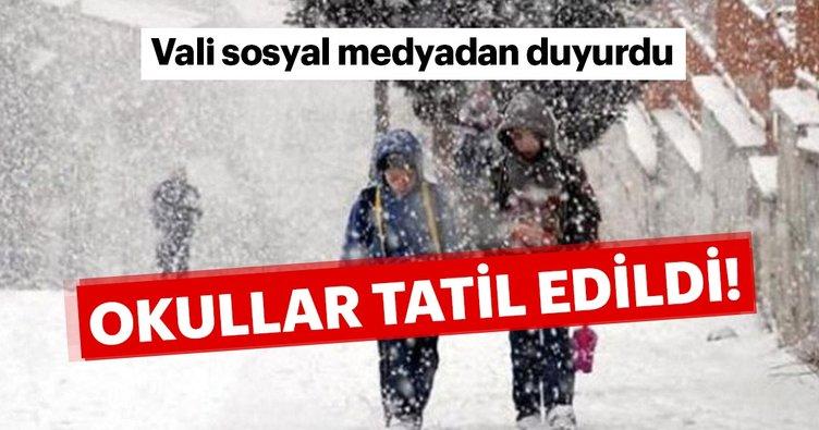 Kar Nedeniyle Okullar Tatil Edildi