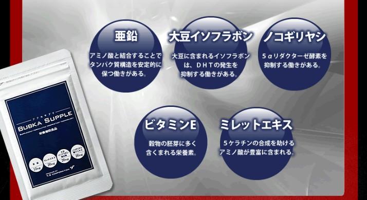 「BUBKAサプリ」の成分評価!