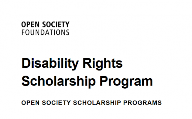 Open Society Foundation Disability Rights Scholarship Program 2020