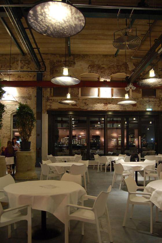 restaurant interior design industrial warehouse conversion stork restaurant amsterdam cube architecten