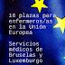 Concurso-oposición para 16 enfermeros/as en instituciones en la Unión europea