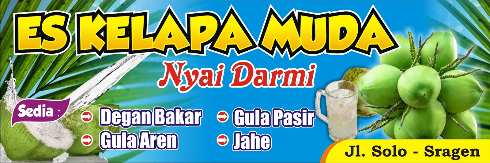 35+ Populer Background Spanduk Es Buah, Background Baner