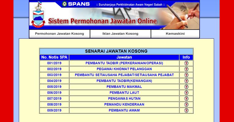 Jawatan Kosong Terkini Di Kerajaan Negeri Sabah Jobcari Com Jawatan Kosong Terkini