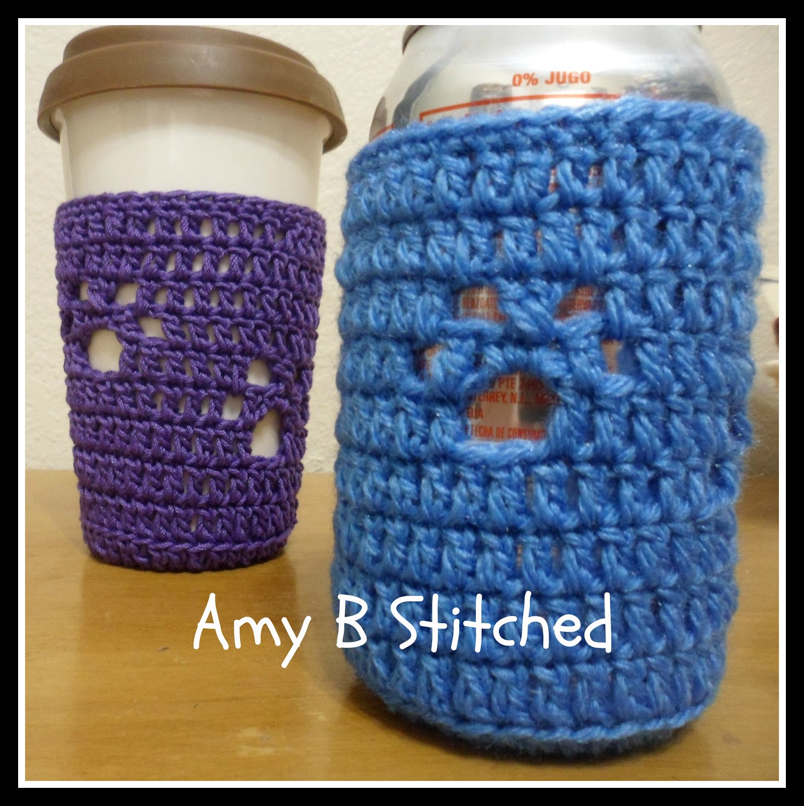 A Stitch At A Time For Amy B Stitched Meandering Paw Print Cup Cozy