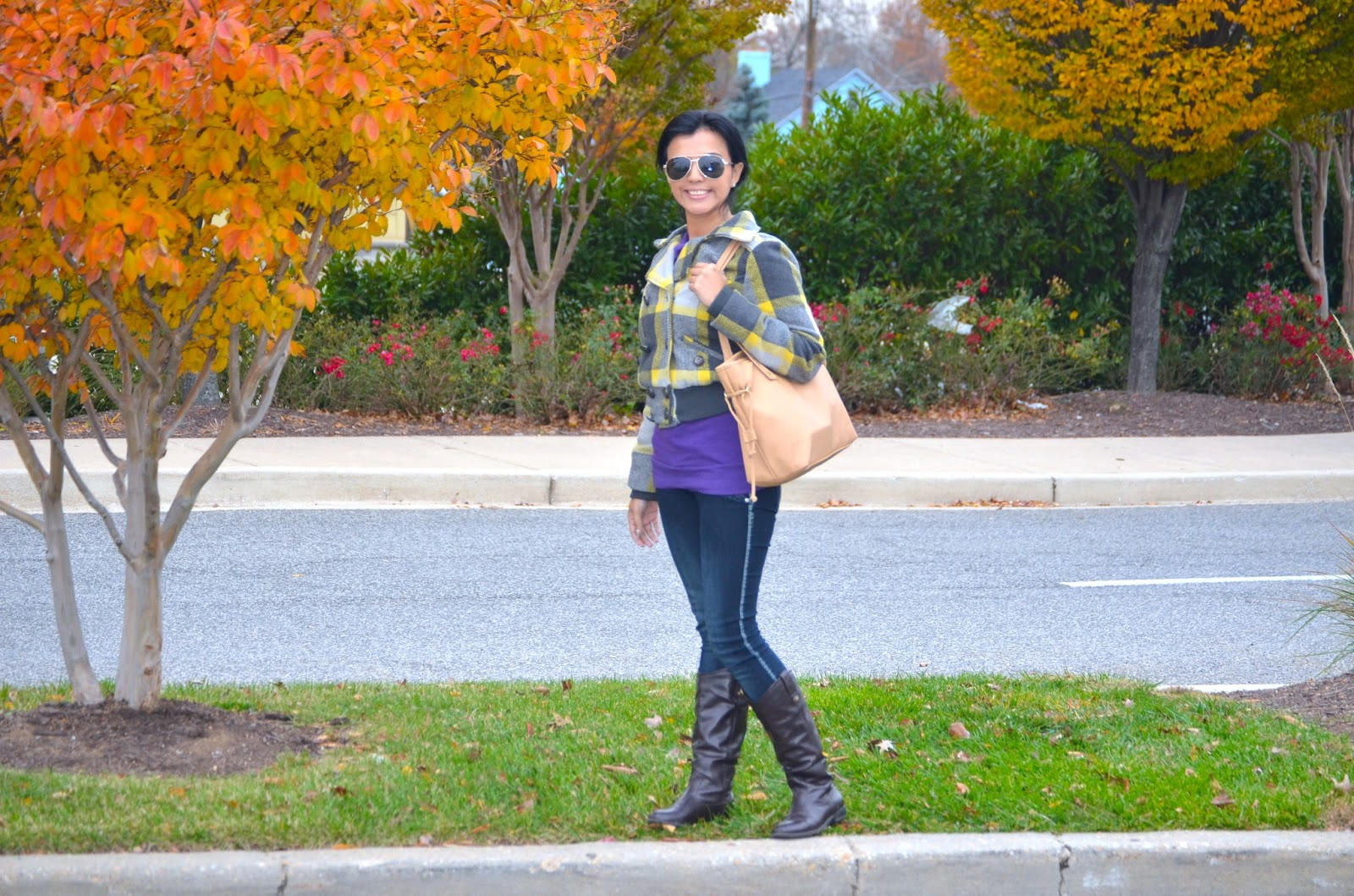 Yellow and Grey Plaid