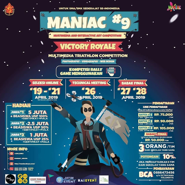 Event Multimedia & Interactive Art Maniac #9 2019 SMA Sederajat