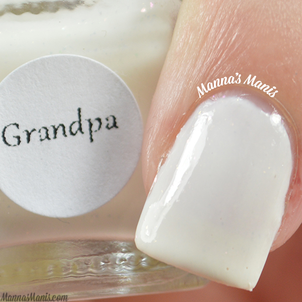 Blue Eyed Girl Lacquer Grandpa swatches