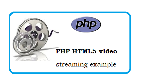 PHP HTML5 video streaming examples