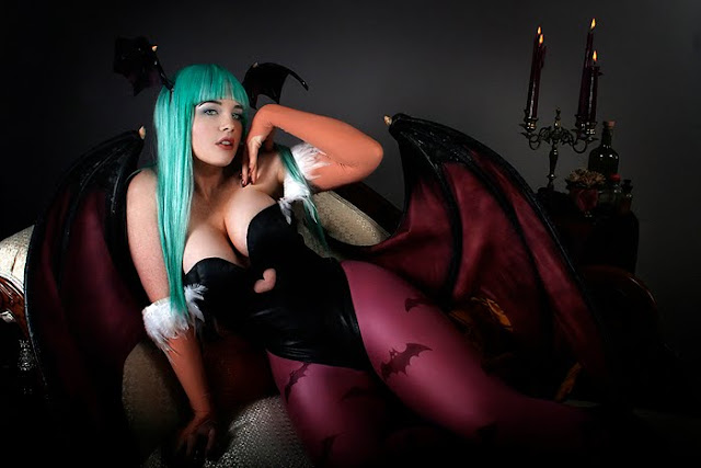 big breasted morrigan costume