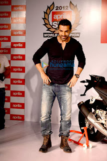 Actor John Abraham unveil of 'Aprilia bike'