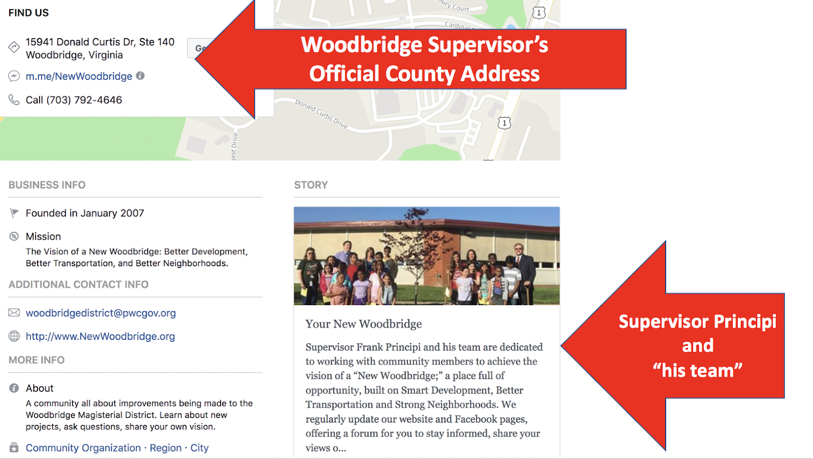 for those who choose to doubt the word of the sheriff here is a screenshot of supervisor principi s official county webpage where it lists the official
