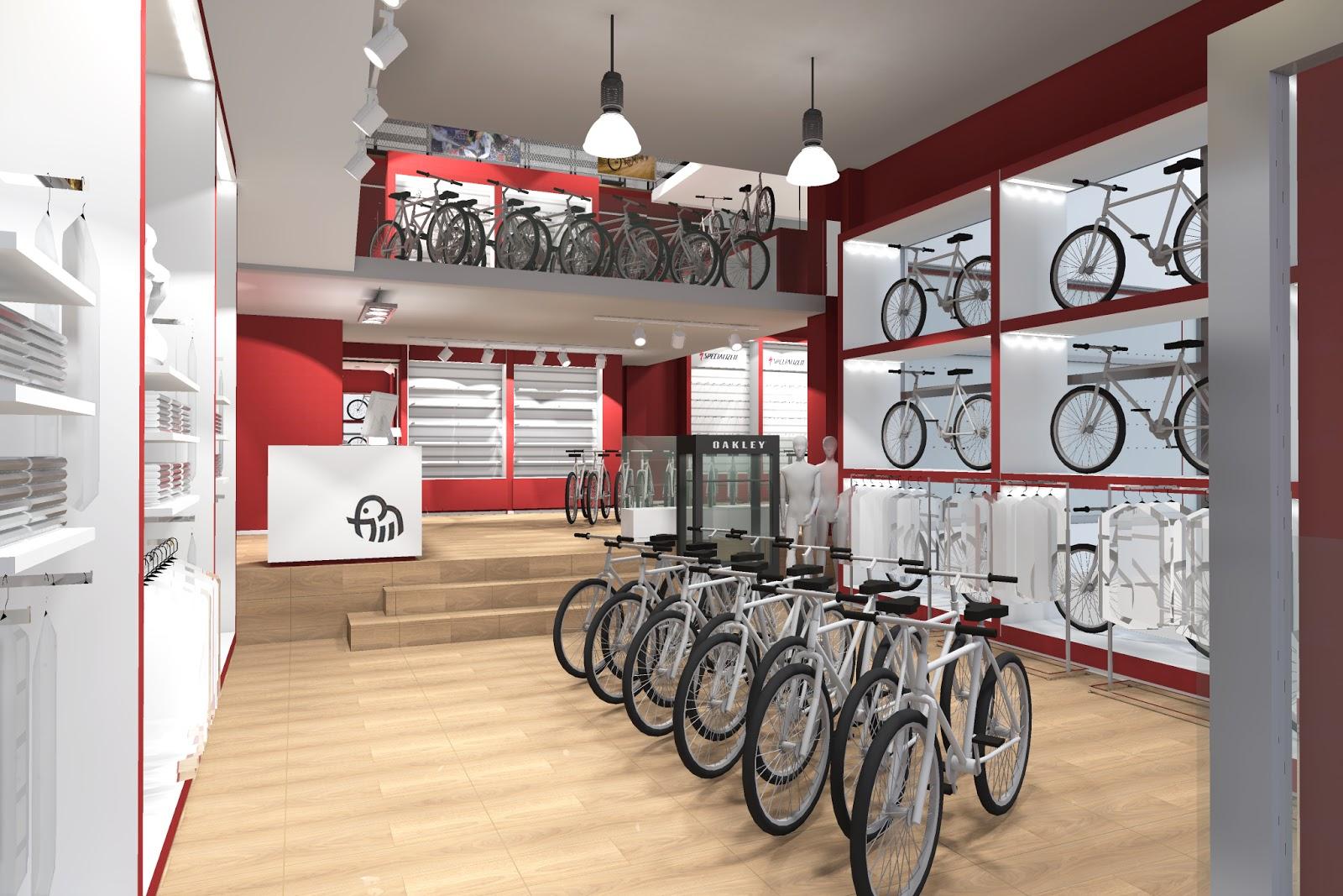 Inshop interiores comerciales tienda de bicicletas for Oficina de correos las rozas