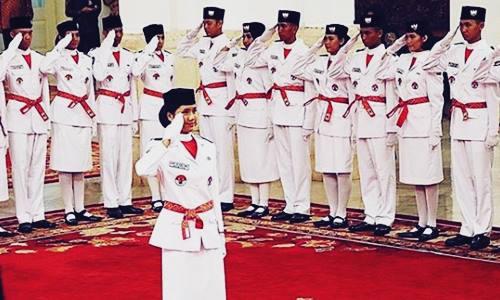 Foto dan Daftar Nama Anggota Tim Paskibraka Nasional HUT RI di Istana Merdeka