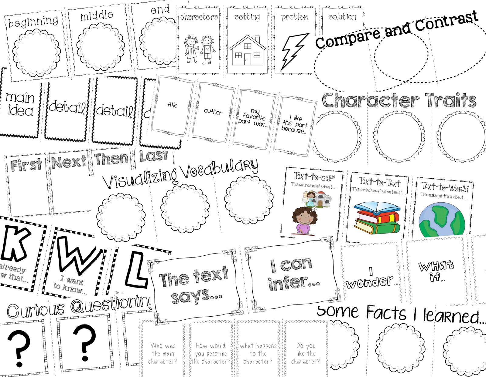 Live Laugh & Learn in Second Grade: Reading Response Flap